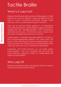 What is Tactile Braille - Sensory Solutions