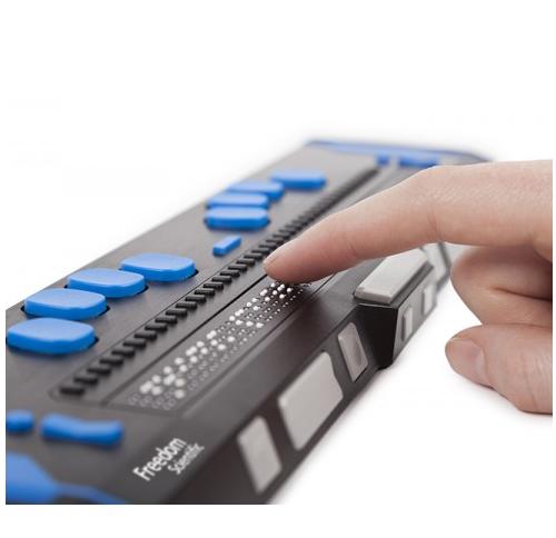 Focus 40 Blue 5th Gen finger reading braille
