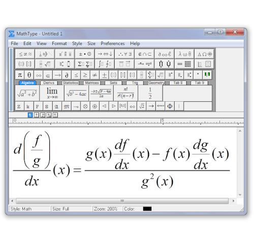 MathType on Screen