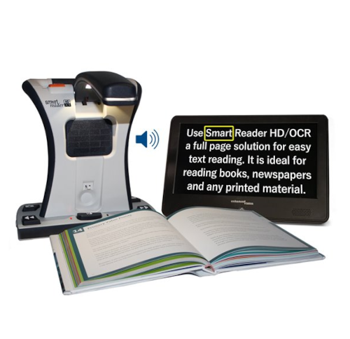 Smart Reader HD with book and monitor